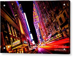 Vibrant New York City Acrylic Print by Az Jackson