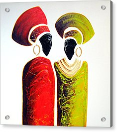 Vibrant Zulu Ladies - Original Artwork Acrylic Print