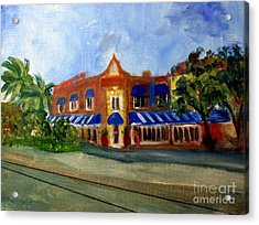 Vic And Angelos In Downtown Delray Beach Acrylic Print