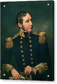 Vice Admiral Robert Fitzroy 1805-65 Admiral Fitzroy Led The Expedition To South America 1834-36 Acrylic Print by Samuel Lane