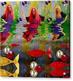 Vice Versa Pop Art Acrylic Print by Pepita Selles