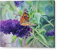 Monarch Butterfly Acrylic Print by Karol Wyckoff