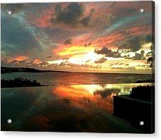Viceroy Sunset Acrylic Print by Jennifer Lamanca Kaufman