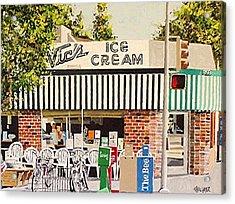 Vic's Ice Cream Acrylic Print by Paul Guyer