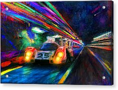 Vic's Night Out Acrylic Print by Alan Greene