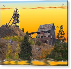 Victor Colorado Gold Mine Acrylic Print by J Griff Griffin
