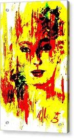Victorene Acrylic Print by P J Lewis
