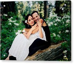 Victoria And Her Man Of God Acrylic Print