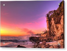 Victoria Beach At Sunset Acrylic Print