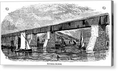 Victoria Bridge - Quebec - 1878 Acrylic Print