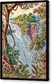 Victoria Falls And Island Acrylic Print by Gustoimages/science Photo Libbrary