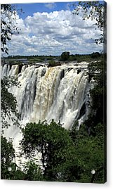 Victoria Falls On The Zambezi River Acrylic Print