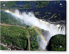 Rainbow Over Victoria Falls  Acrylic Print