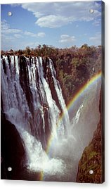 Victoria Falls Rainbow Acrylic Print by Stefan Carpenter