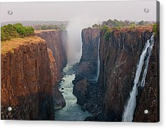Victoria Falls, Zambia Acrylic Print by Peter Adams