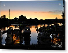 Acrylic Print featuring the digital art Victoria Harbor Sunset 3 by Kirt Tisdale