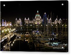 Victoria Harbour At Christmas Acrylic Print