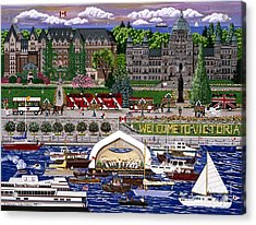 Acrylic Print featuring the painting Victoria  by Jennifer Lake
