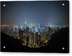 Acrylic Print featuring the photograph Victoria Peak by Mike Lee