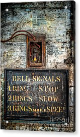 Victorian Bell Sign Acrylic Print by Adrian Evans