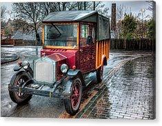 Victorian Car Replica  Acrylic Print by Adrian Evans