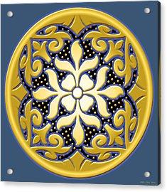 Victorian Door Knob Design Acrylic Print by Greg Joens