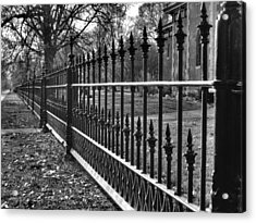 Victorian Fence Acrylic Print by Jane Linders