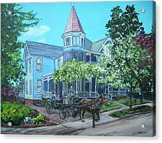Acrylic Print featuring the painting Victorian Greenville by Bryan Bustard