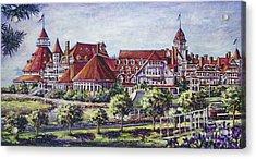 Victorian Hotel Del Acrylic Print