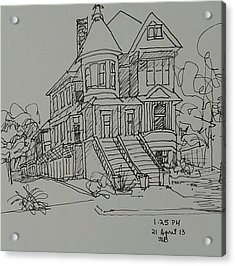 Victorian House Acrylic Print by Janet Butler