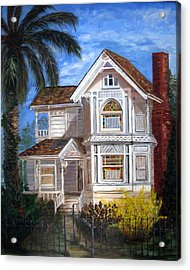 Acrylic Print featuring the painting Victorian House by LaVonne Hand