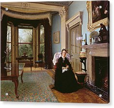 Victorian Interior With Seated Lady Acrylic Print
