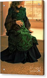 Victorian Lady Expecting A Baby Acrylic Print by Jill Battaglia