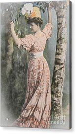 Victorian Lady In Beautiful Dress Acrylic Print by Patricia Hofmeester