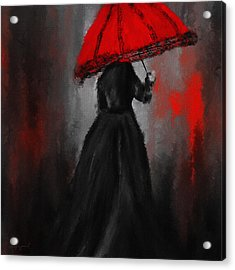 Victorian Lady With Parasol Acrylic Print by Lourry Legarde