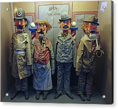 Victorian Musee Mecanique Automated Puppets - San Francisco Acrylic Print by Daniel Hagerman