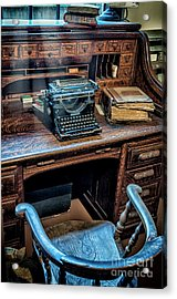 Victorian Office Acrylic Print by Adrian Evans