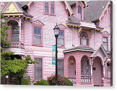 Victorian Pink House - Milford Delaware Acrylic Print