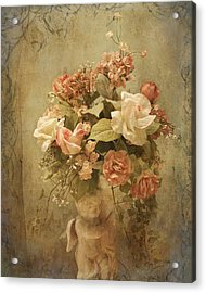 Victorian Rose Floral Acrylic Print