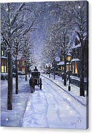 Victorian Snow Acrylic Print