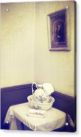 Victorian Wash Basin And Jug Acrylic Print by Amanda Elwell