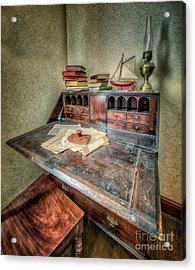 Victorian Writing Bureau Acrylic Print by Adrian Evans