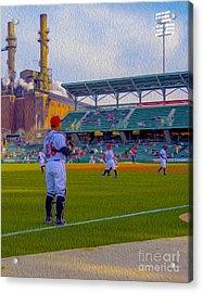 Victory Field Catcher 1 Acrylic Print by David Haskett