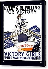 Victory Girls Of W W 1     1918 Acrylic Print by Daniel Hagerman