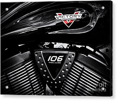 Victory Monochrome Acrylic Print by Tim Gainey