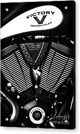 Victory Motorcycle Monochrome Acrylic Print by Tim Gainey