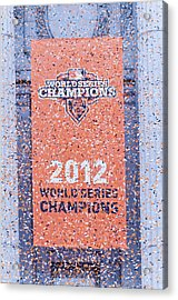 Victory Parade Banner For The San Francisco Giants As The 2012 World Series Champions Acrylic Print