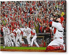 Victory - St Louis Cardinals Win The World Series Title - Friday Oct 28th 2011 Acrylic Print