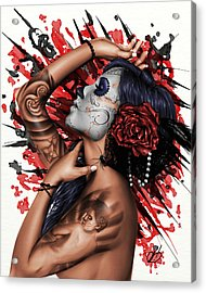 Vidas Angel Acrylic Print by Pete Tapang