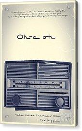 Video Killed The Radio Star Acrylic Print by Edward Fielding